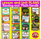 Lesson and Unit Plans Reading and Math Bundle